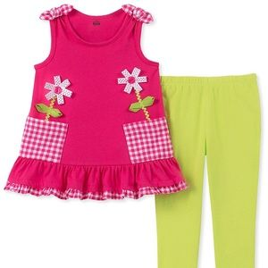 Kids Headquarters Legging set cute Flowers 🌺 🌸